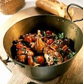 Coniglio all'ischitana (Geschmortes Kaninchen mit Tomaten)