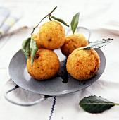 Arancini di riso (deep-fried rice balls) Sicily, Italy