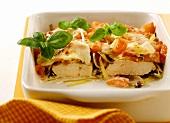 Turkey escalope with tomatoes and mozzarella