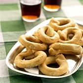 Taralli (savoury yeast rings), Apulia, Italy