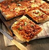 Sfincione (onion pizza), Sicily, Italy