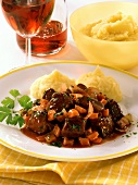 Boeuf bourguignon with mashed potato