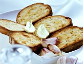 Fettunta (toasted bread with garlic and olive oil)