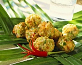 Indonesian shrimps balls with chili