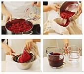 Himbeergelee kochen