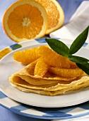Crepes Suzette with Orange Fillet