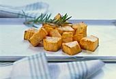 Oven-baked pumpkin pieces