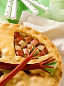 Rhubarb pie for diabetics