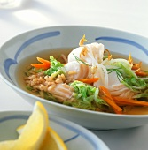 Chinese fish soup with sprouts