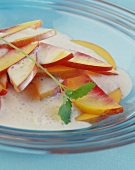 Fruit salad with banana whip