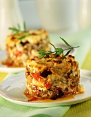 Aubergine moussaka with sheep's cheese