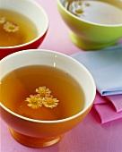 Chamomile tea in tea bowl