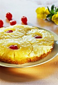 Pineapple cake with cherries