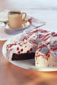Cranberry cream cake