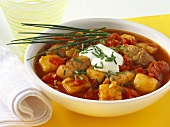 Potato goulash with pork