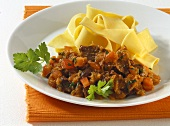 Pappardelle alla lepre (Ribbon pasta with hare ragout, Italy)