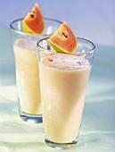 Soya drink with papaya