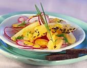Radish salad with Harzer cheese