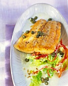 Salmon fillet with spicy Chinese cabbage