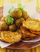Falafel and courgette cakes