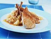 Turkey escalope with apple and cinnamon rice