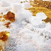 Still life with various types of sugar