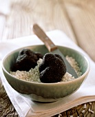 Black truffle and risotto rice