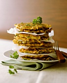 Potato pancakes with parsley
