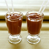 Chocolate shake with chocolate ice cream