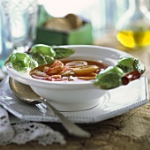 Minestra ai frutti di mare (Seafood soup, Italy)