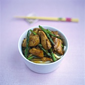 Marinated turkey breast with Thai asparagus and soba noodles