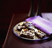 Chocolate peanut slice