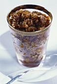 Coffee granita in glass