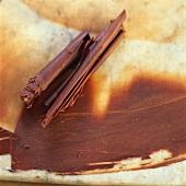 Making chocolate rolls