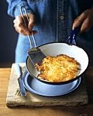 Rosti in the pan
