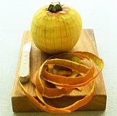 Peeled pumpkin