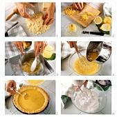 Making lemon meringue pie
