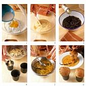 Making mini-panettone with rum