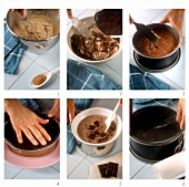 Making gâteau truffé au chocolat (chocolate truffle cake)