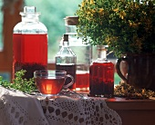 St. John's wort tea and syrup