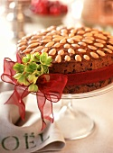 Christmas fruit cake with almonds