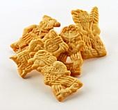 Spekulatius biscuits with various motifs