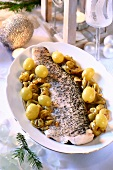 Pike with grapes for Christmas