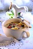 Kapusniak z kielbasa (cabbage soup with sausage, Poland)