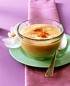 Spicy papaya and coconut soup (can be eaten warm or cold)