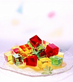 Colourful jelly cubes