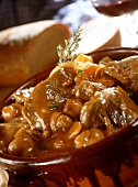 Lamb ragout with mushrooms