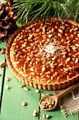 Pine nut tart (Tarte aux pignons)