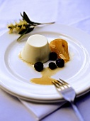 Panna cotta (turned-out cream dessert, Italy)