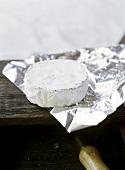 Camembert on foil
